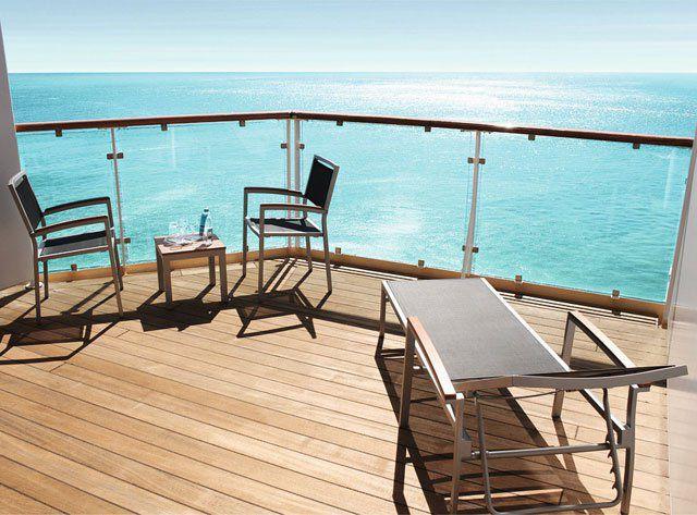 Balkon auf der Mein Schiff Herz / © TUI Cruises