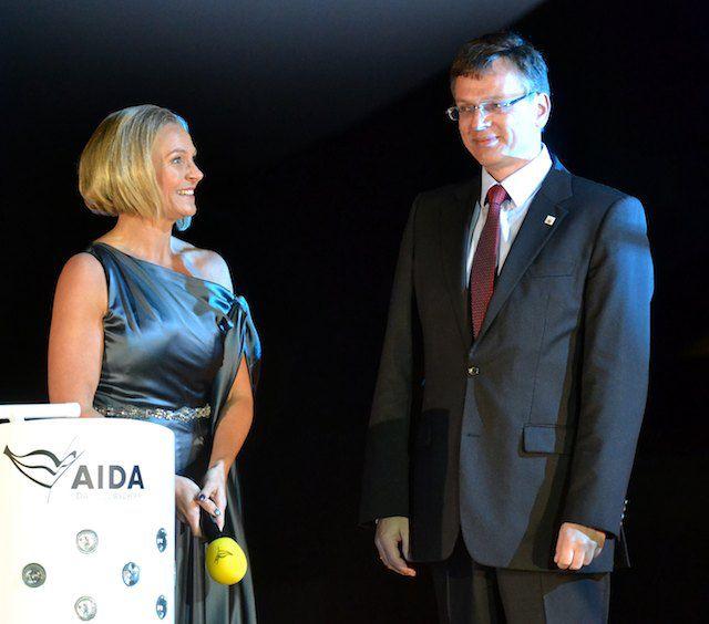 Bettina Zwickler und Michael Thamm / © AIDA Cruises