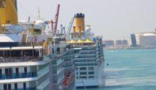 Costa Deliziosa mit 2000 Passagieren und technischen Problemen in der Werft