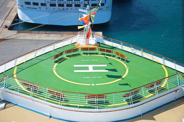 Helikopter-Platz der Liberty of the Seas