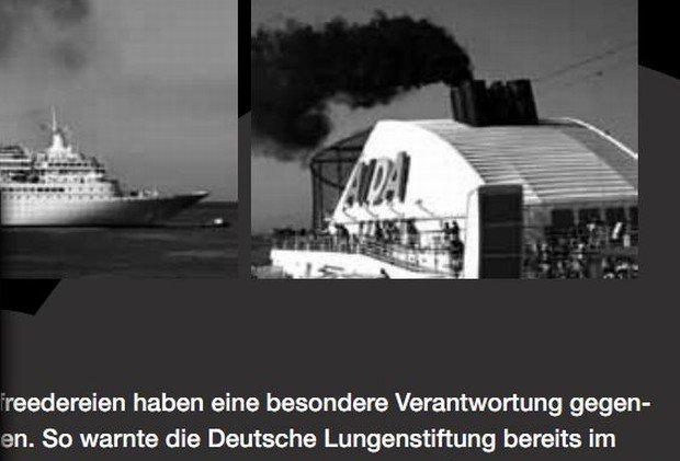 AIDA Schornstein NABU-Flyer / Screenshot: Aktueller NABU Kreuzfahrtschiff-Flyer