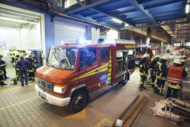 Feuerwehr im Baudock 2 / © Meyer Werft
