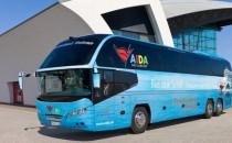 AIDA bringt Fluggäste per Bus von Hamburg nach Frankfurt