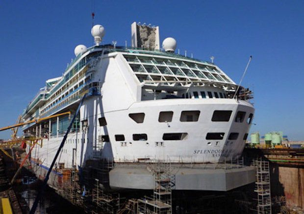 Splendour of the Seas im Trockendock / © Royal Caribbean