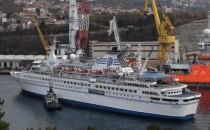 MS Delphin ist in der kroatischen Viktor Lenac Werft Werft in Rijeka angekommen