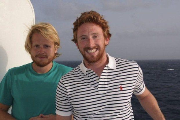 Tom Sauer und Tom Fancett - die gekenterten Ruderer / © Crystal Cruises
