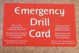 Costa Kreuzfahrten - Emergency Drill Card / © Hans Jörg Mende
