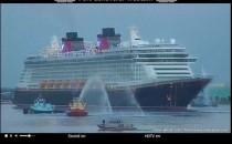 Disney Fantasy ist auf Jungfernfahrt aufgebrochen in Port Canaveral