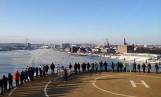 Hafen Kiel ( auf Color Magic ) im Februar 2012