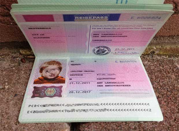 Reisepass für Kinder