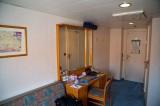 MS Delphin Aussenkabine auf Deck 3 - Schreibtisch