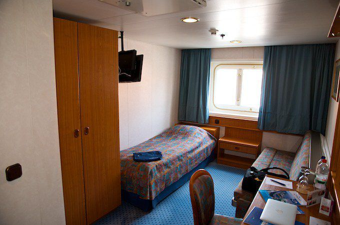 MS Delphin Aussenkabine auf Deck 3 - Bett und Pullmannbett