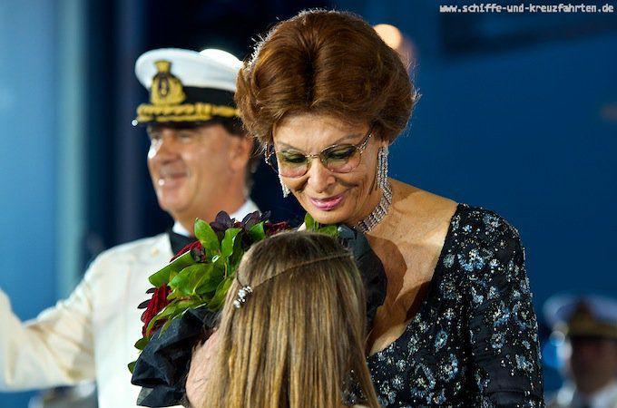 MSC Sophia Loren bei der Taufe der MSC Divina in Marseille