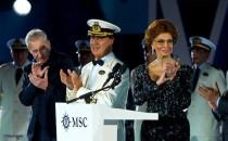 MSC Divina Taufzeremonie mit Sophia Loren in Marseille (Bilder)