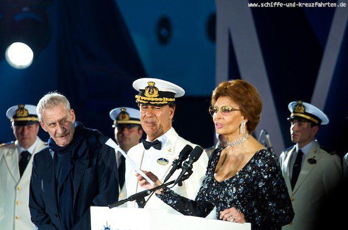 MSC Divina - Taufe in Marseille mit Sophia Loren