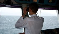 Brücke der MS Artania – mit Kapitän Jens Thorn