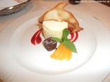 Dinner - Dessert -  Aprikosenschnitte mit Erdbeersauce