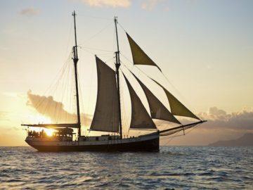 SeaPearl im Sonnenuntergang / © Silhouette Cruises