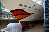 AIDAstella im Baudock der Meyer Werft  1