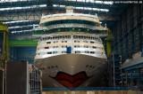 AIDAstella im Baudock der Meyer Werft