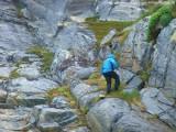 Klemens beim Klettern