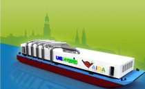 """LNG Barge """"Hummel"""" wurde in Hamburg getauft: Sauberer Strom für AIDAsol"""