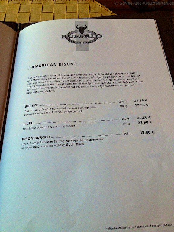 Prima Restaurant Menu