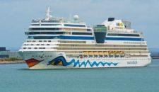 AIDAblu im Oktober in der Cantieri del Mediterraneo Werft in Neapel