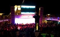 AIDAsol: Auslaufparty & Lasershow auf dem Pooldeck