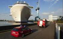 Feuer auf der Meyer Werft: Isoliermaterial auf Schiffsneubau brannte