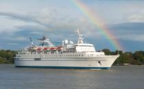 MS Delphin: Der letzte Besuch der charmanten Lady in Hamburg in 2012