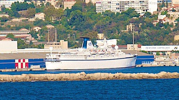 MS Princess Danae liegt festgesetzt im Oktober 2012 in Marseille