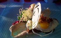 Rossini Restaurant - Interpretation vom Strammen Max mit Tatar vom Bisonfilet aus Nebraska