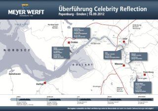 Überführungsplan der Celebrity Reflection / © Meyer Werft