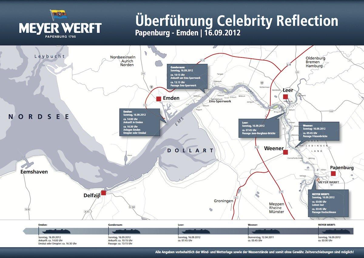 Celebrity Reflection Emsüberführung – 16.09.2012 – Nacht auf Sonntag