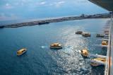 Costa Fascinosa - Crew Drill mit Rettungsbooten 1