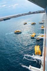 Costa Fascinosa - Crew Drill mit Rettungsbooten 3