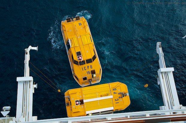 Costa Fascinosa - Crew Drill mit Rettungsbooten 6
