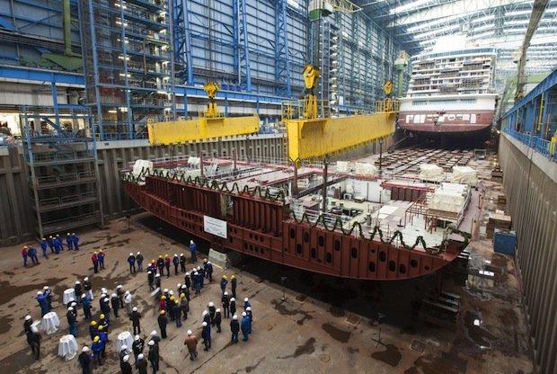 Kiellegung der Norwegian Getaway auf der Meyer Werft / © Norwegian Cruise Line
