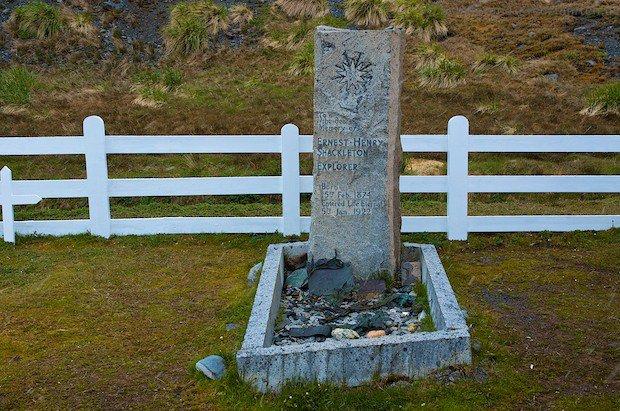 Grab von Shackleton in Grytviken