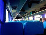 Im Bus zum Hafen