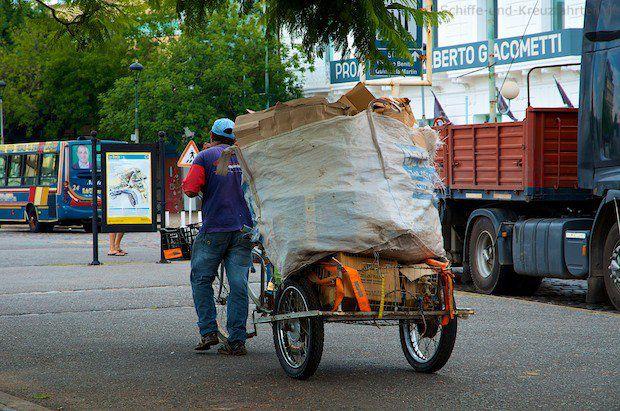 Müllsammler in Buenos Aires