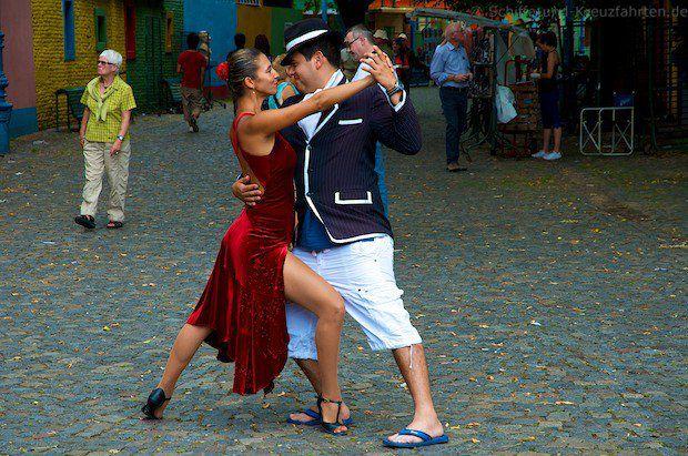 Tangotänzer in La Boca - Buenos Aires