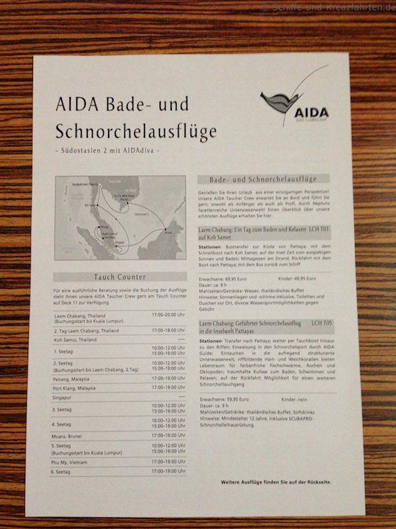 AIDA Bade- und Schnorchelausfluege