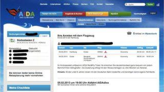 AIDA - Flugdaten bei myAIDA
