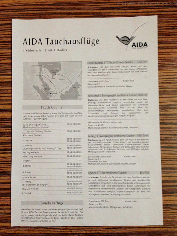 AIDA Tauchausflüge