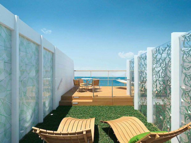 Himmel und Meer Suite - Dachterrasse - MEIN SCHIFF 3 / © TUI Cruises