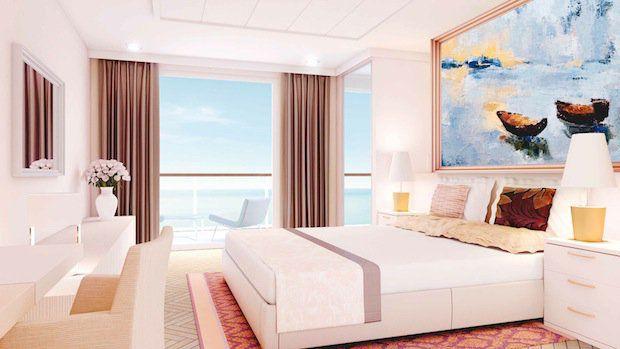 Kapitaen Suite - Schlafbereich - MEIN SCHIFF 3 / © TUI Cruises