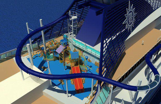 MSC Preziosa: Neu für Kids – Wasserrutsche Vertigo und Doremi Castle Aqua Park