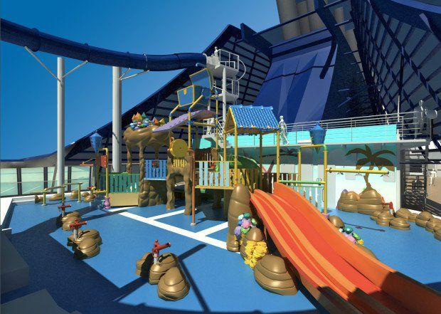 MSC Preziosa - Wasserrutsche Vertigo & Doremi Castle Aqua Park (c) MSC Kreuzfahrten